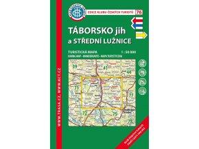 Táborsko jih a střední Lužice -  mapa KČT č.76