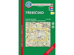 Třebíčsko -  mapa KČT č.80