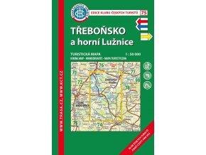 Třeboňsko a horní Lužice -  mapa KČT č.75