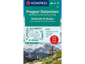 Pragser Dolomiten, Naturpark Fanes-Sennes-Prags (kompass - 145)