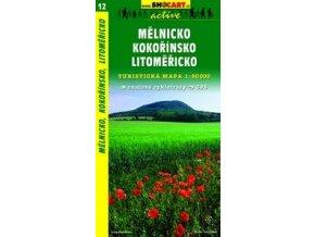 Mělnicko,Kokořínsko,Litoměřicko (turistická mapa č. 12)