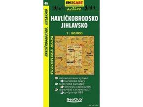 Havlíčkobrodsko,Jihlavsko (turistická mapa č. 46)