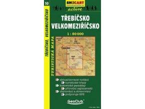 Třebíčsko,Velkomeziříčsko (turistická mapa č. 50)