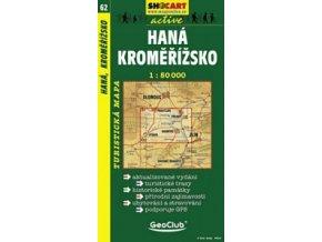 Haná,Kroměřížsko (turistická mapa č. 62)