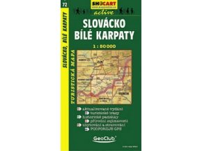Slovácko, BíléKarpaty (turistická mapa č. 72)