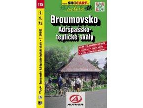 Broumovsko, Adršpašsko, teplické skály (cyklomapa č. 115)