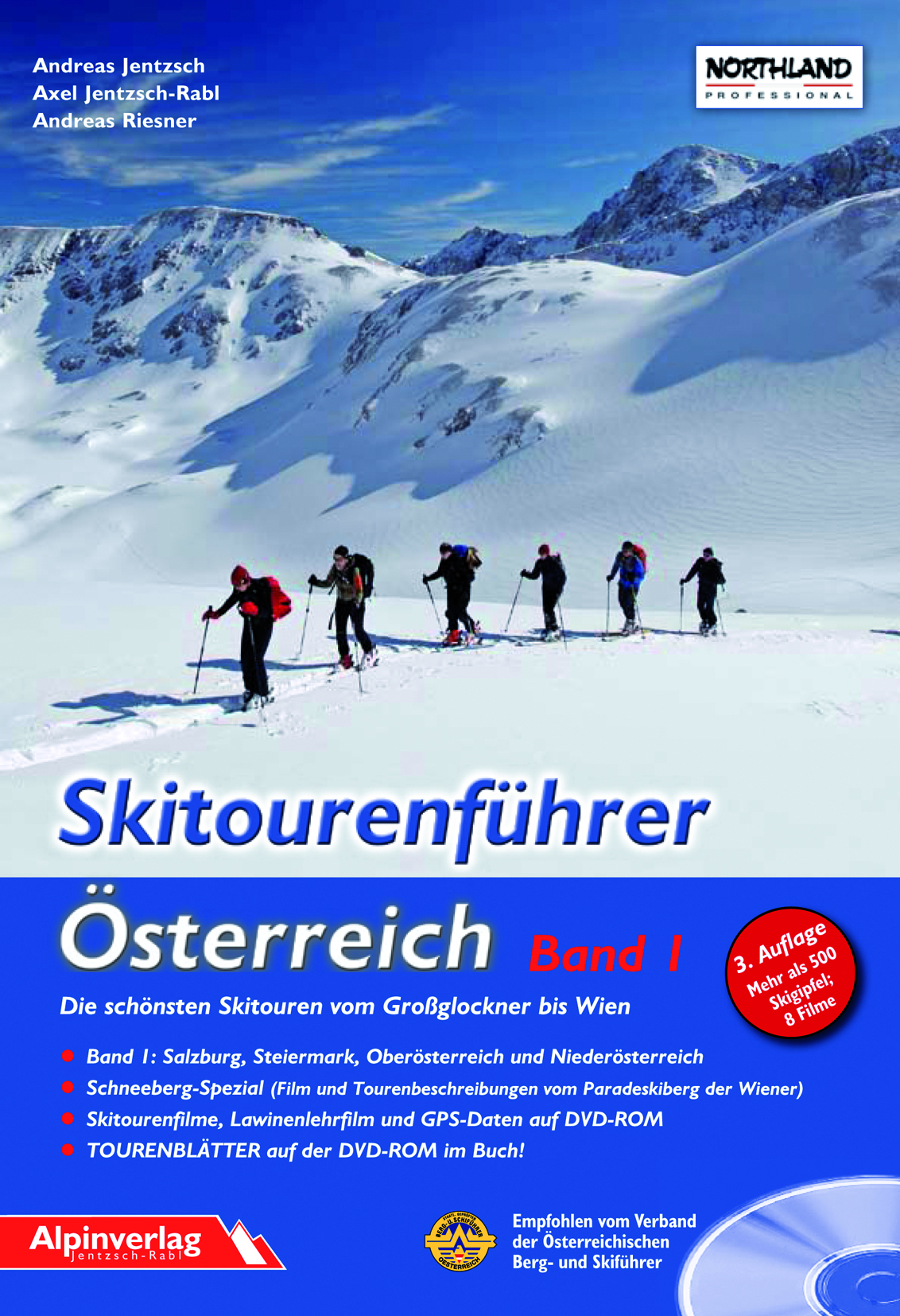 Alpinverlag Skitourenführer Österreich - skialpinistický průvodce 1. díl