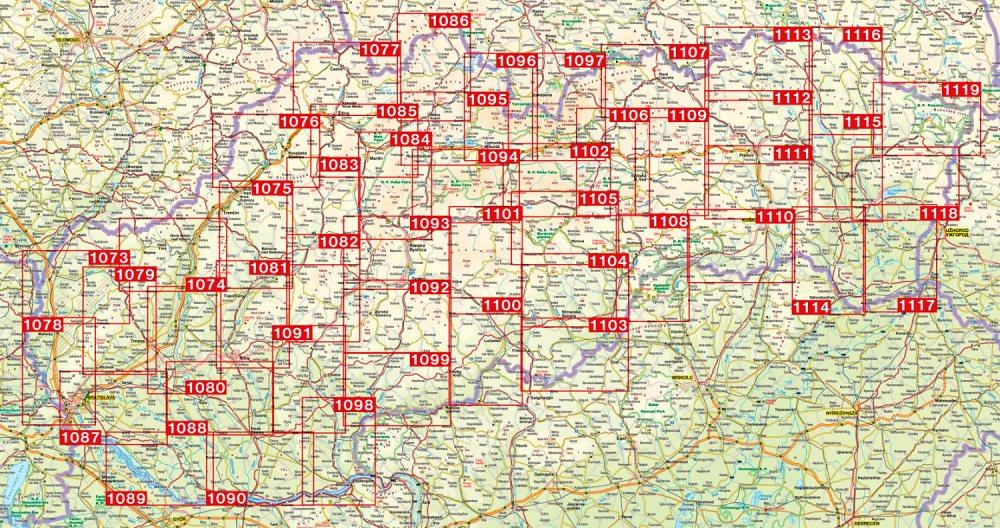 Domaša, Humenné - turistická mapa (shocart č.1115)