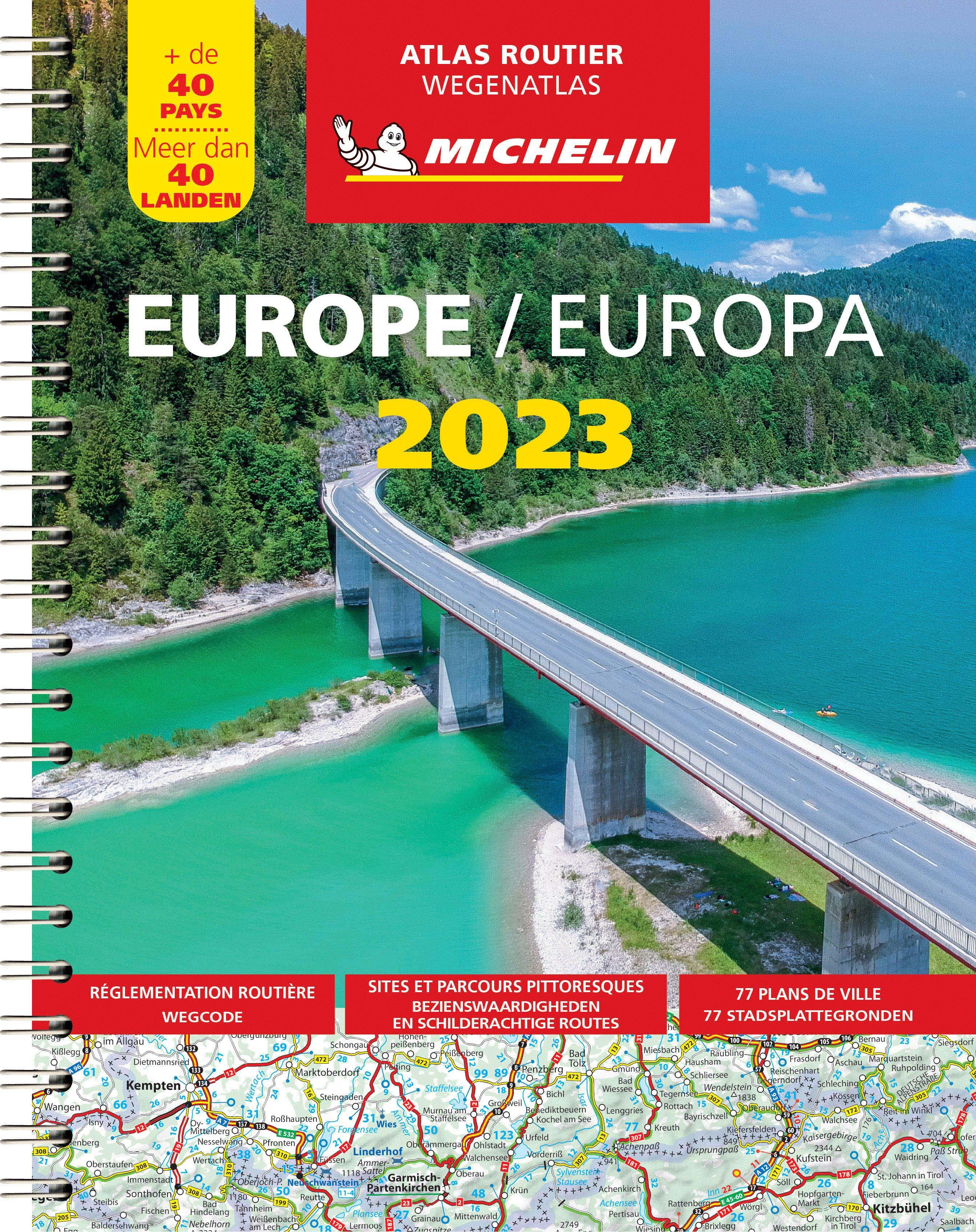 Evropa - autoatlas Michelin 2017