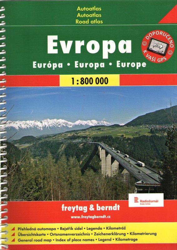 Freytag & Berndt Evropa - autoatlas 1:800 000