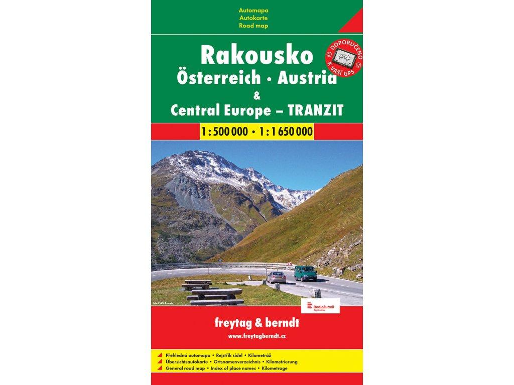 Freytag & Berndt Rakousko - automapa 1:500 000