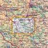 Železné hory -  mapa KČT č.45