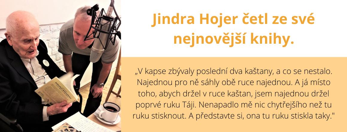 Jindra Hojer četl ze své nejnovější knihy