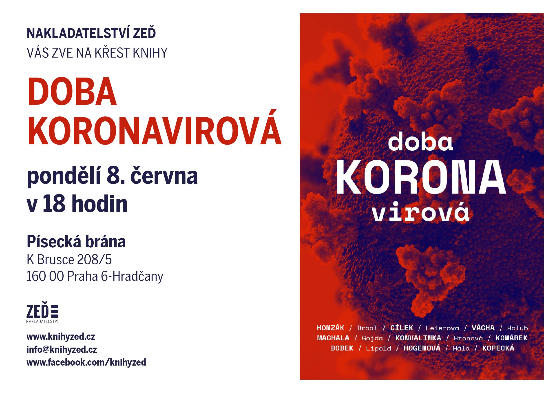Pozvánka na křest knihy Doba koronavirová