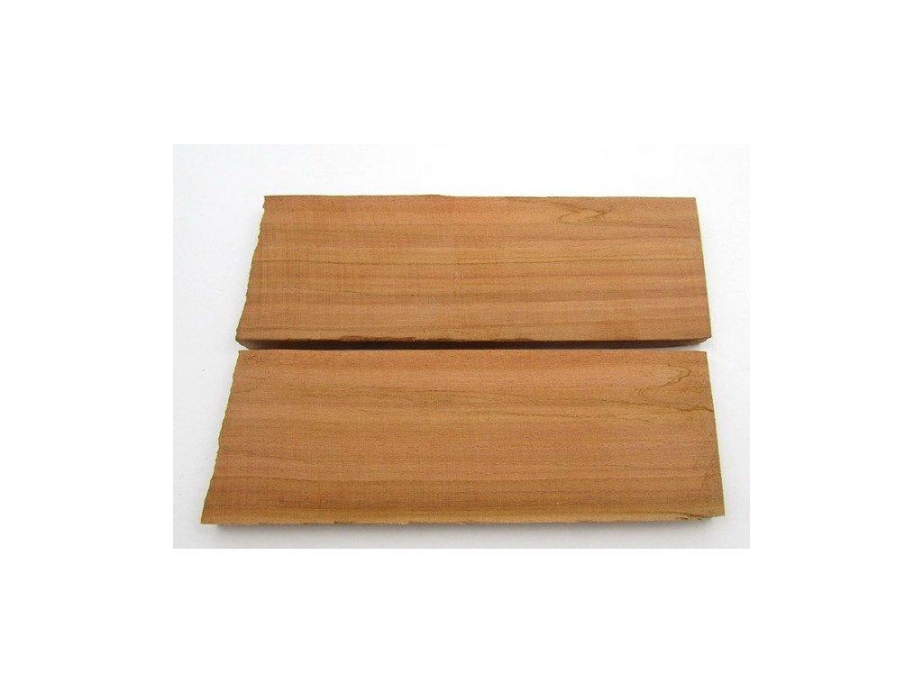 Dřevo Švestka - Plum Scales 2 ks