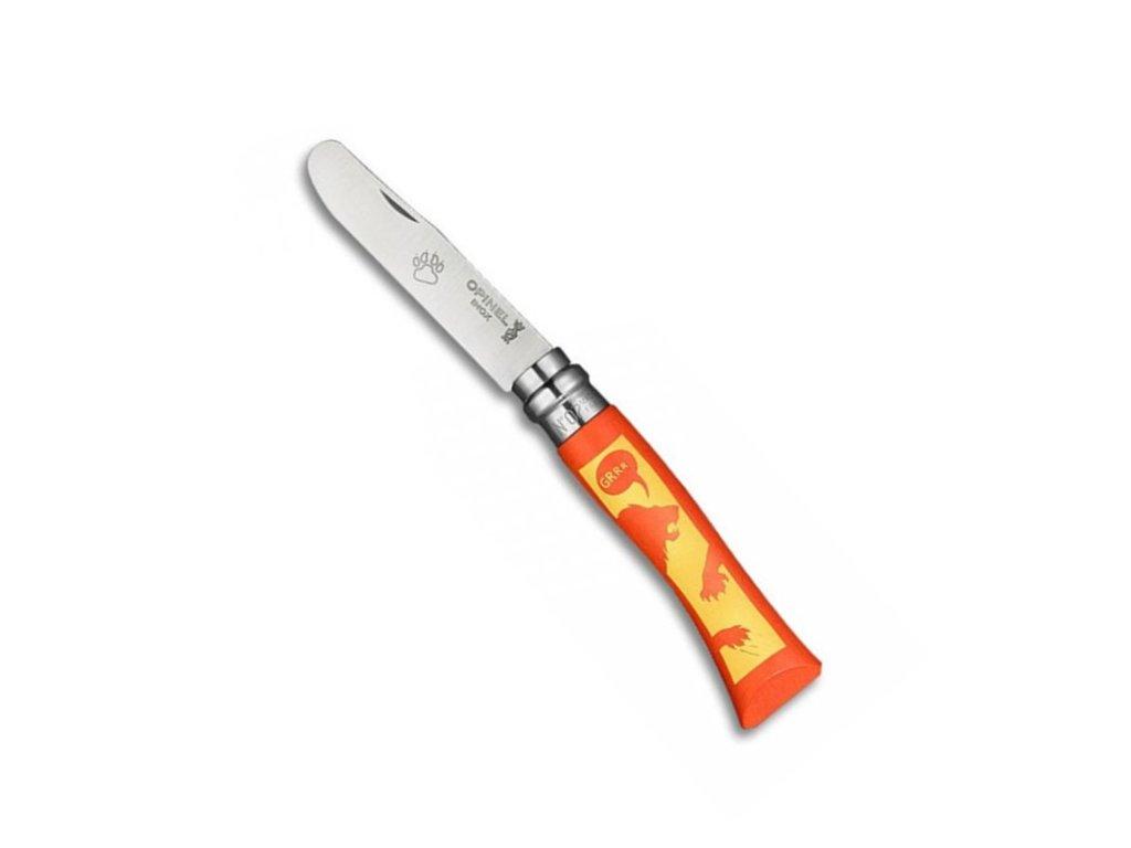 Nůž Opinel VRI N°07 dětský so zvieracím motívom - lev