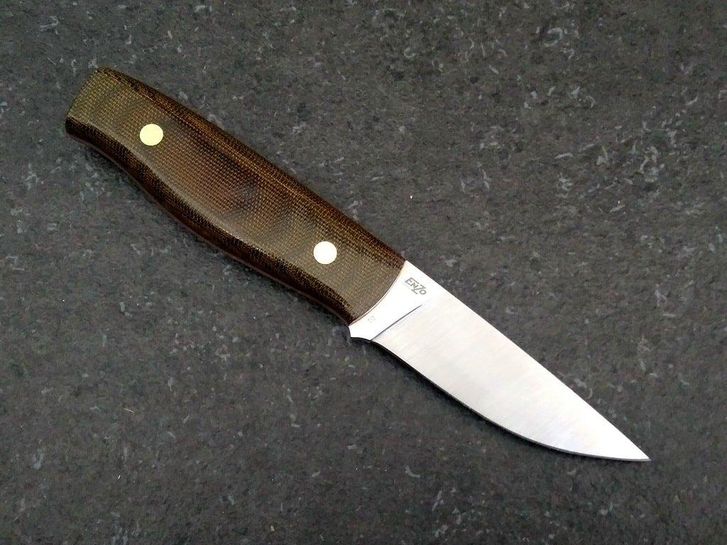 Nůž Enzo Elver 85 D2 F Knife/Green Canvas Micarta