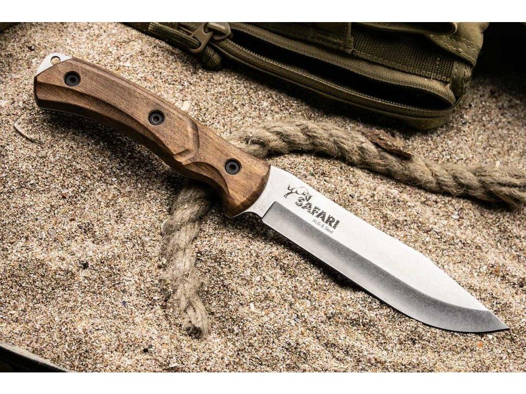 Nůž Kizlyar Supreme Safari AUS-8 SW Walnut