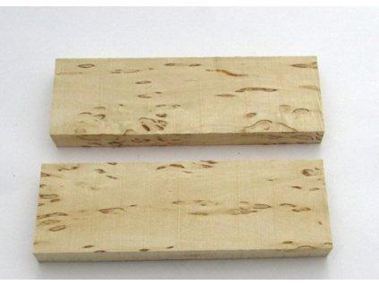 Dřevo Kudrnatá bříza - Curly Birch Scales 2ks Standard