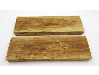 Dřevo Kudrnatá bříza - Stab Curly Birch Scales 2ks