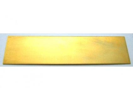 Mosaz 1,5 x 50 x 200 mm