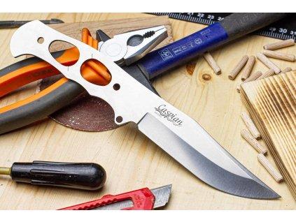 Čepel na nůž Kizlyar Supreme Caspian D2 Stonewash