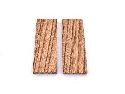 Dřevo Zebrawood Příložky 2 ks