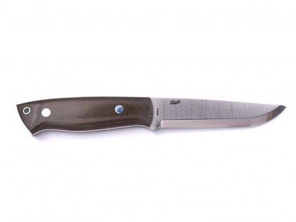 Nůž Brisa Trapper 115 Elmax Scandi / Green Micarta / Sheath Bushcraft 115