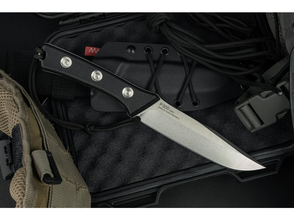 nuz anv P300 plain edge kydex sheath black 1a min