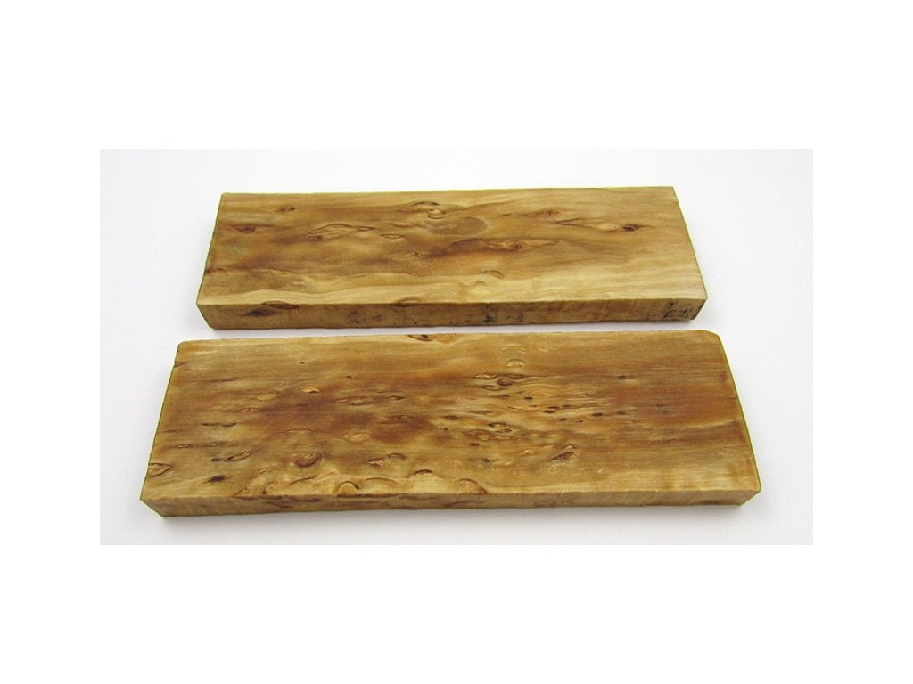 drevo na rukovat noz stab curly birch scales x2 16023 min