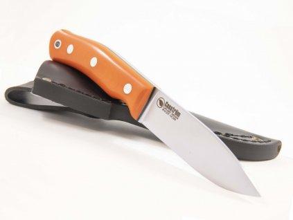 Casstrom SFK Swedish Forest Knife orange G10 14C28N 13130 3
