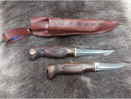 Sada nožov Wood Jewel Kaksoispuukko avauspuukkolla - hnedý - 2 nože