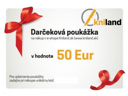 darcekova poukazka noze 50 eur