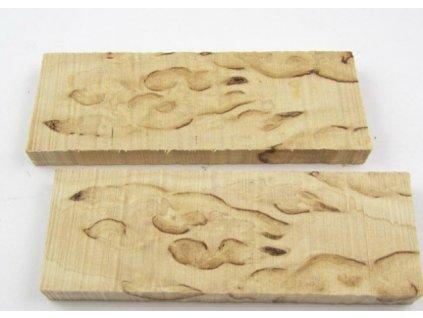 drevo na rukovat noz curly birch scales x2 6517 min