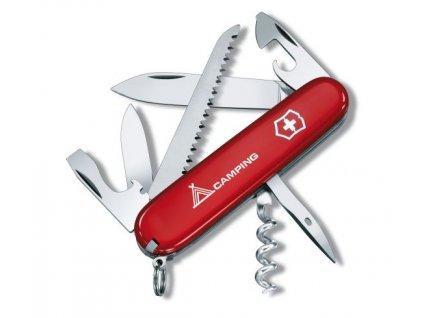 Nôž Victorinox Camper červený (logo camping)