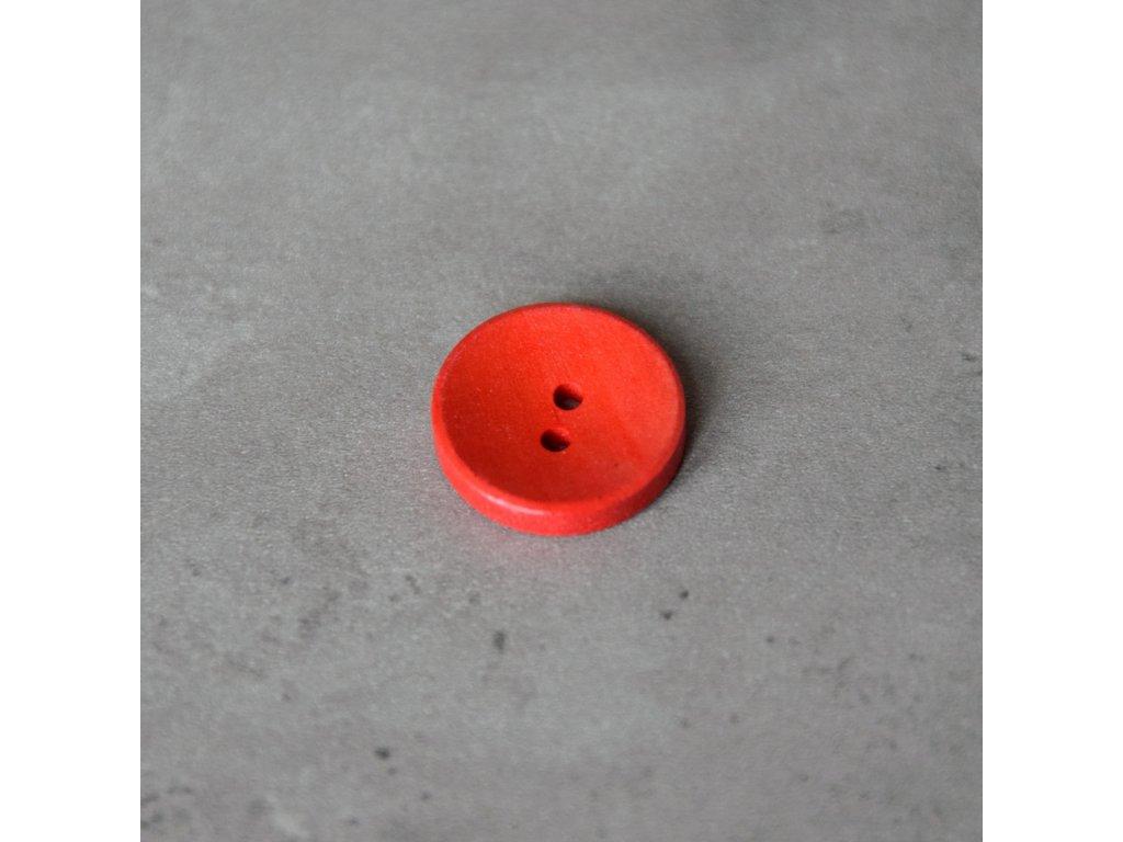 Dřevěný dekorační knoflík - červený