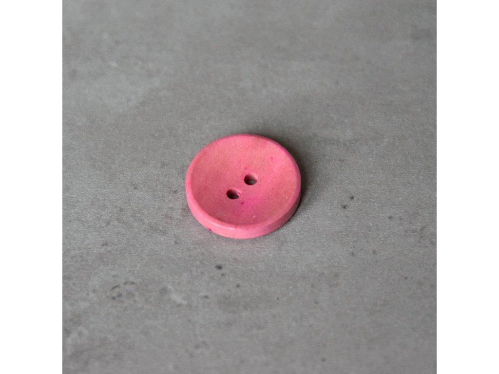 Dřevěný dekorační knoflík - růžový