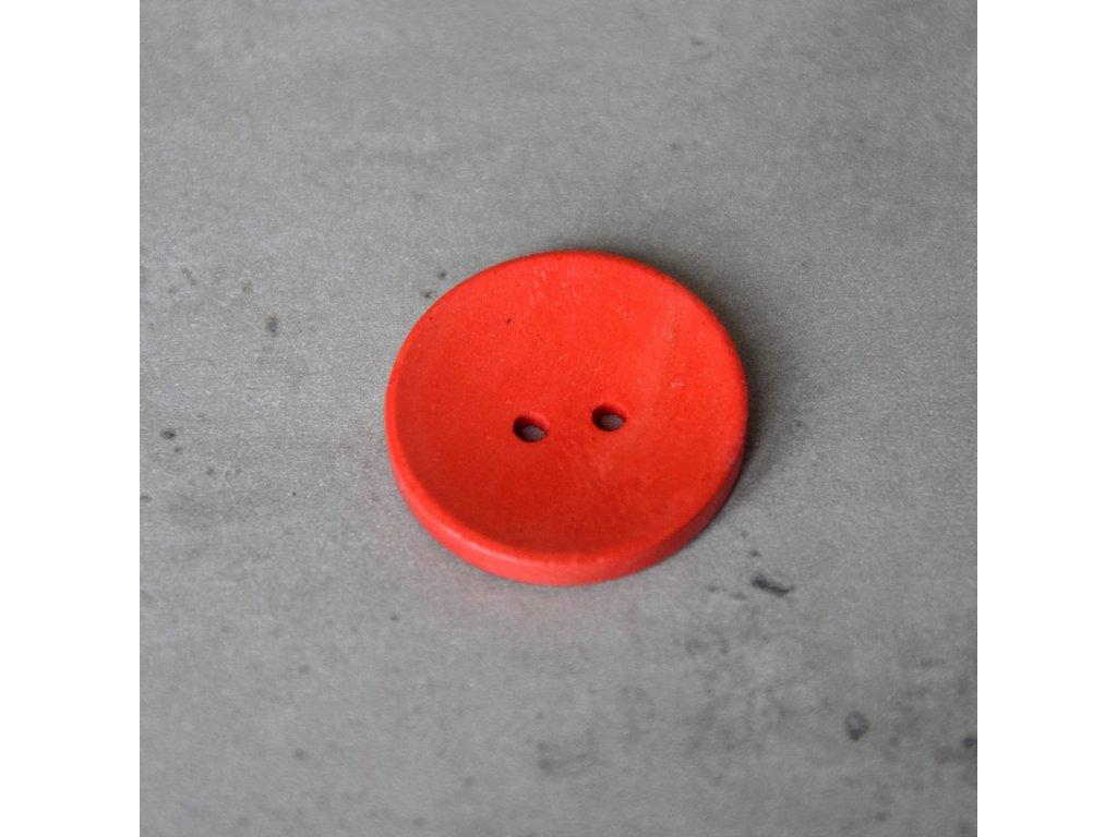 Dřevěný dekorační knoflík - velký - červený