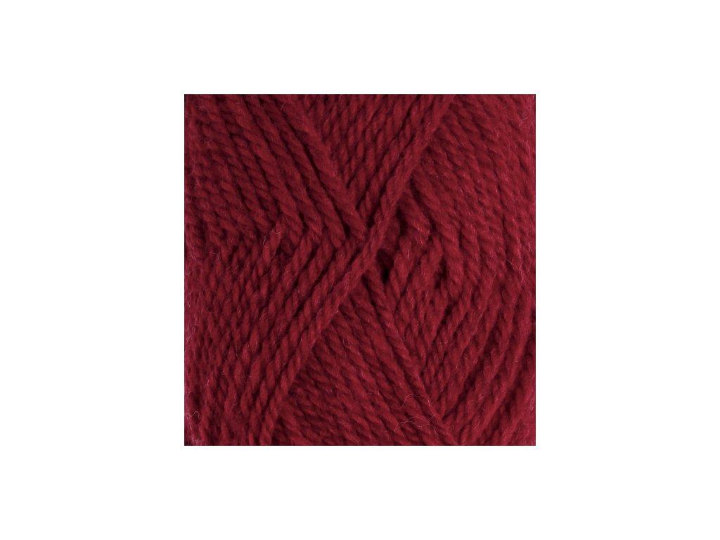DROPS Alaska uni colour 11 - tmavá červená