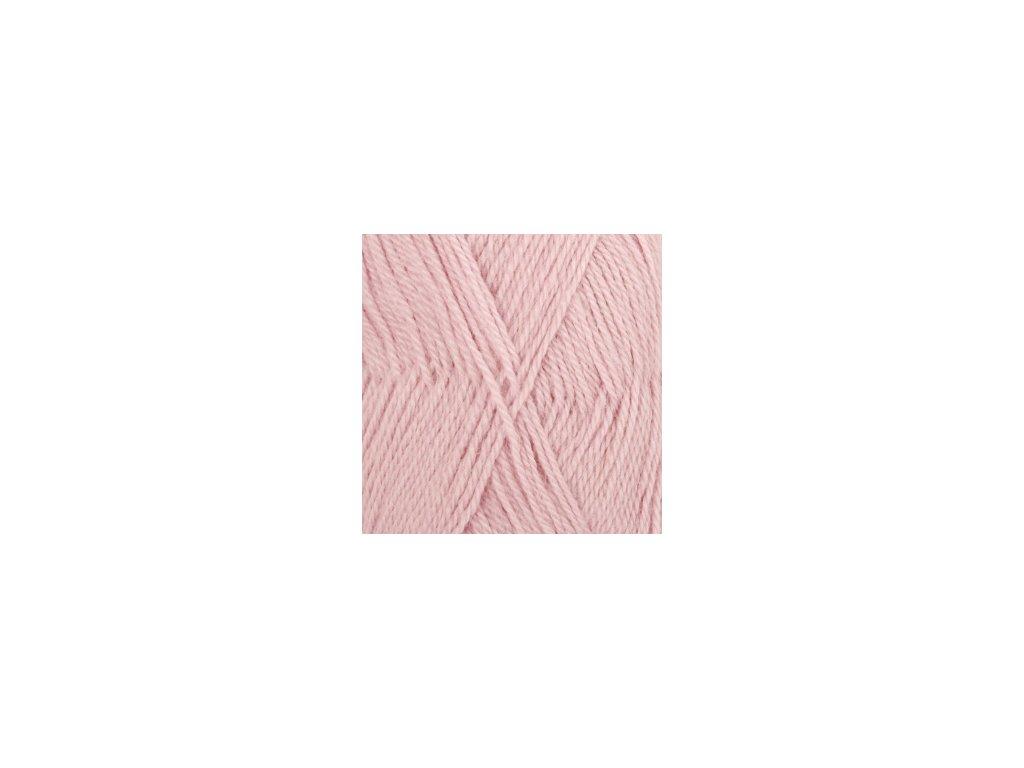 DROPS Alpaca uni colour 3112 - pudrová růžová