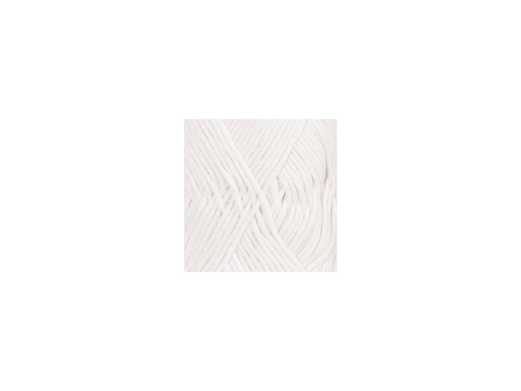 DROPS Cotton Light uni colour 02 - bílá