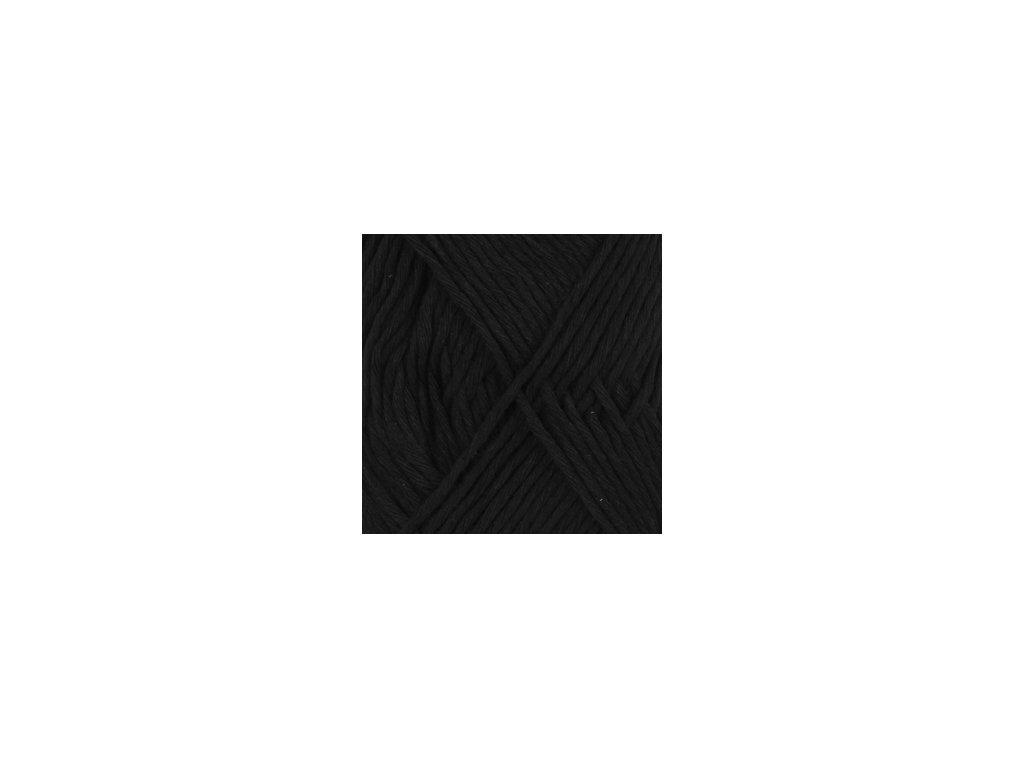 DROPS Cotton Light uni colour 20 - černá