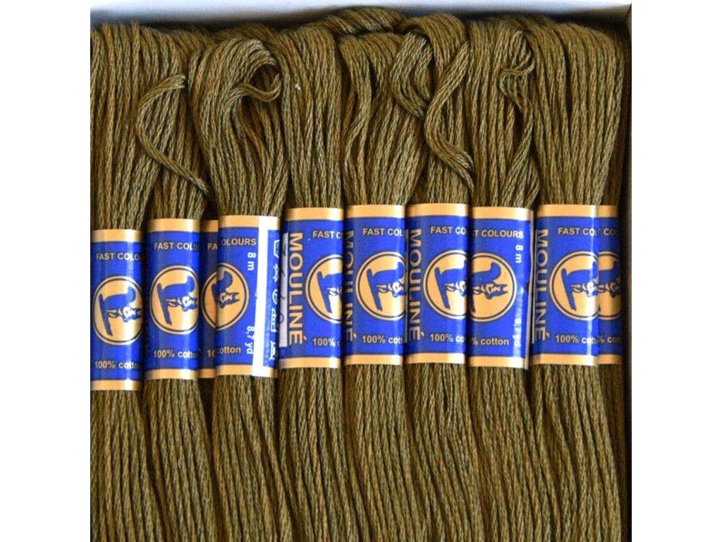 Vyšívací příze Mouline - 6792 vojenská olivová