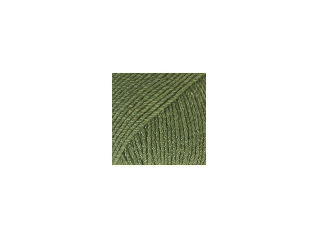 DROPS Cotton Merino uni colour 11 - zelená