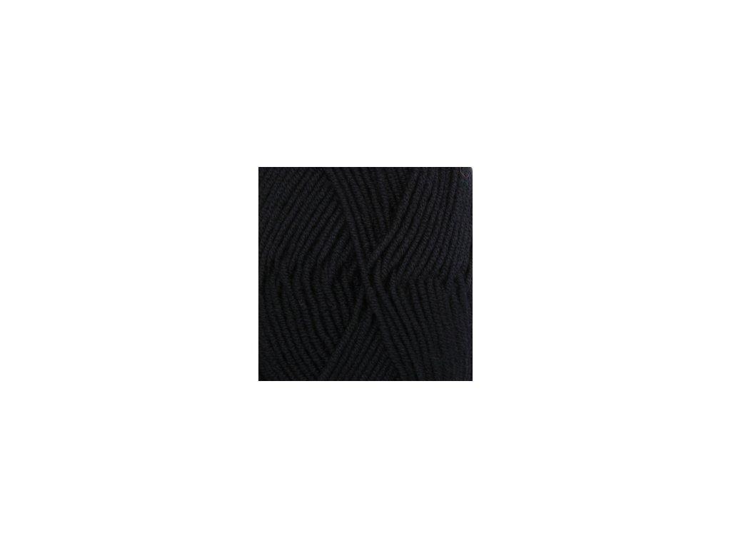 DROPS Merino Extra Fine uni colour 02 - černá