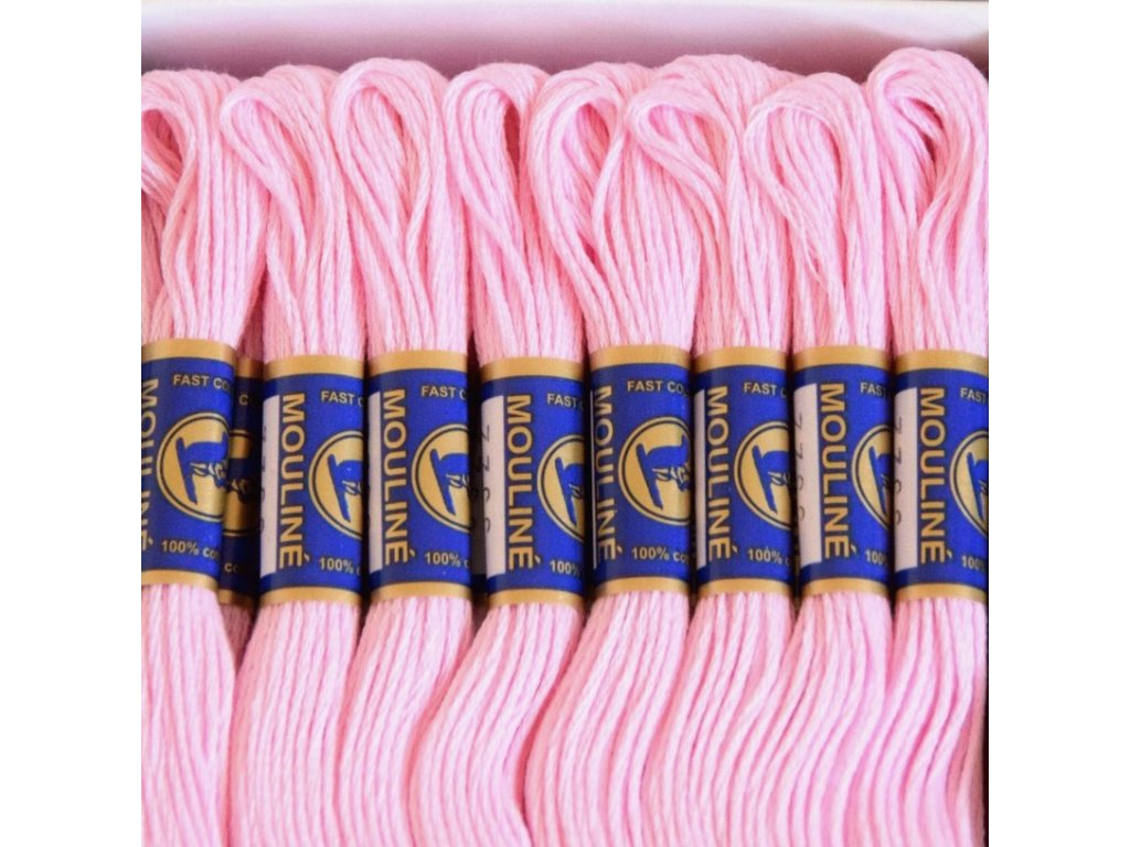 Vyšívací příze Mouline - 3322 sladce růžová