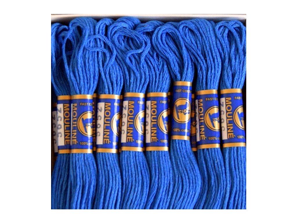 Vyšívací příze Mouline - 5652 královská modrá