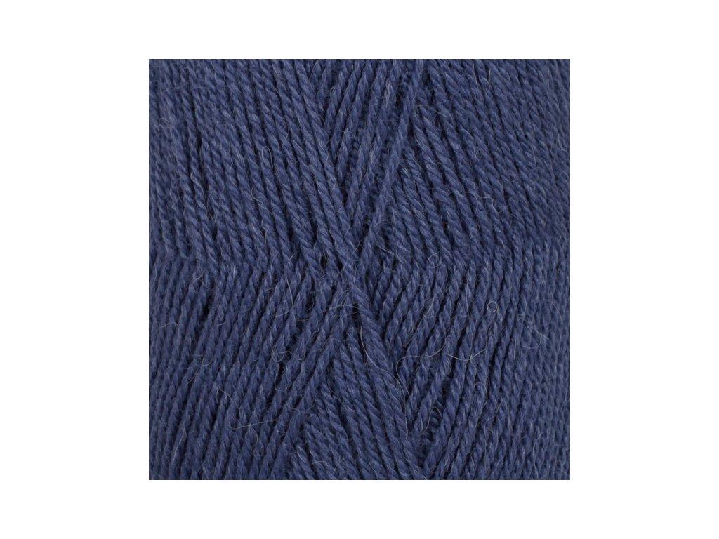 DROPS Flora uni colour 10 - tmavá modrá