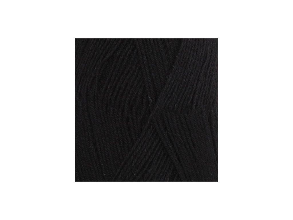 DROPS Fabel uni colour 400 - černá