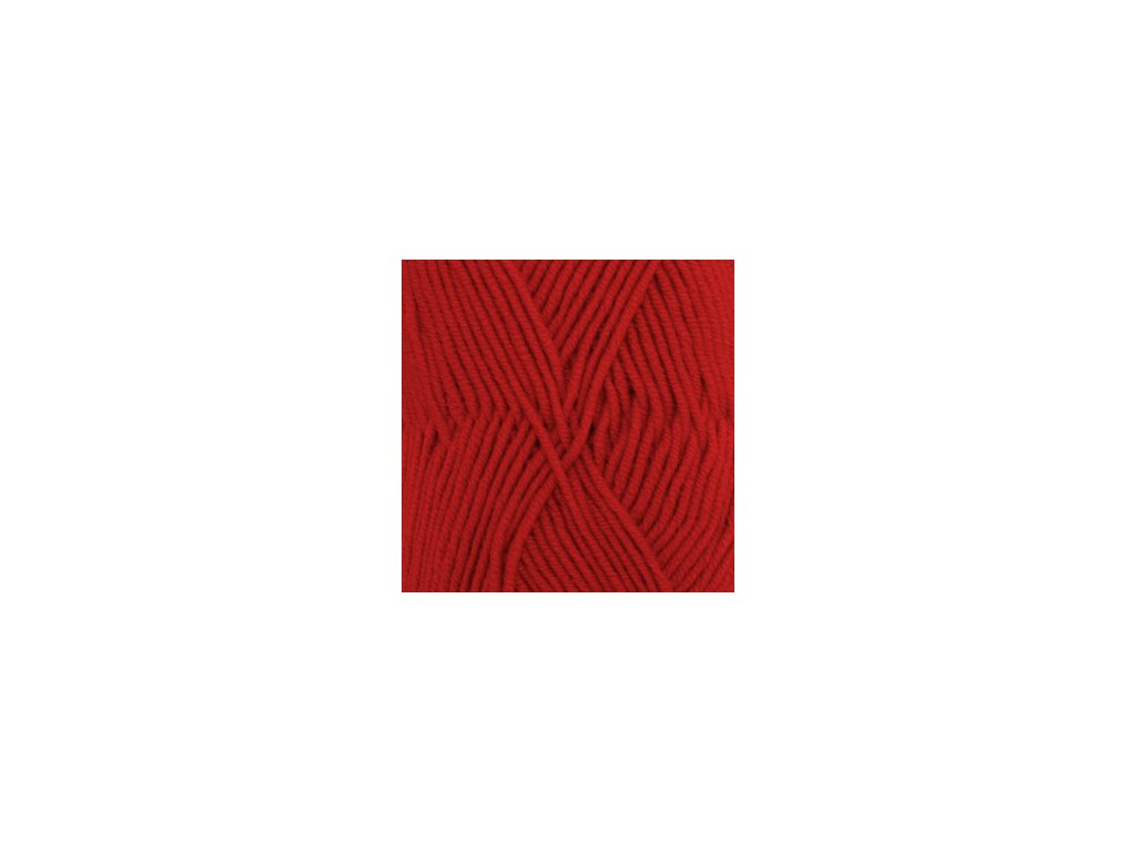DROPS Merino Extra Fine uni colour 11 - červená